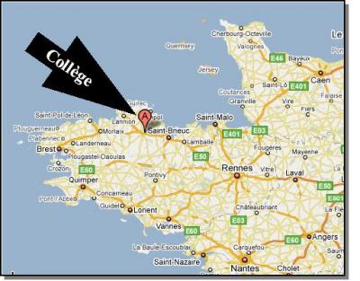 localisation rapide du collège   Collège Jacques PREVERT GUINGAMP